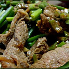 Beef & Garlic Scapes Stir Fry