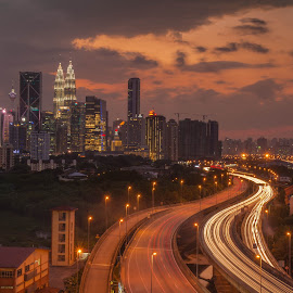 by Wah Gou Lou - City,  Street & Park  Night