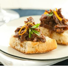 Cranberry-Orange Braised Beef on Ciabatta