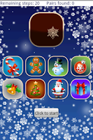 Screenshot of Christmas Memory Game