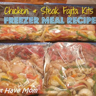 Fajita Freezer Meal Recipe ~ Chicken & Steak Fajita Kits