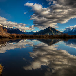 The Lagoon by Pete Whittaker - Landscapes Cloud Formations ( clouds, mountain, lagoon, hdr, reflections, lake, landscape, new zealand )