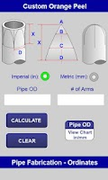 Screenshot of Mitered Pipe Calculator