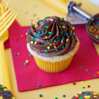 Classic Yellow Cupcakes with Chocolate Frosting