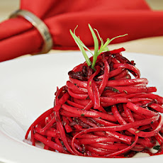 Linguini with Roasted Beets, Fresh Tarragon and Caraway