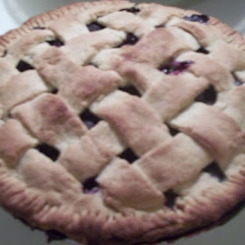 Maine Blueberry Pie by Judith Beck - Food & Drink Cooking & Baking ( lattice, maine, yummy, delicious, homemade, blueberries, baked, pie, letti, crust, dessert,  )