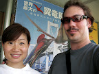 Aya and Jason at the Pterosaur Exhibition 02