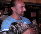UK Mike with the calm Schnauzer