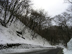 What most roads looked like in Gunma, nice and snowy