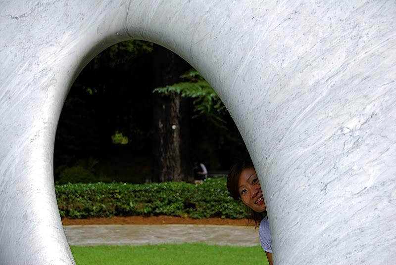 Aya peeking in Shizen Kyoiku Park