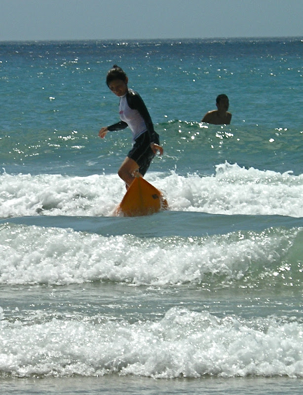Aya surfing at Izu 05