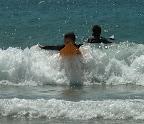 Aya surfing at Izu 04