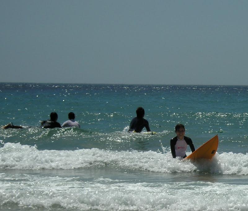 Aya surfing at Izu 07
