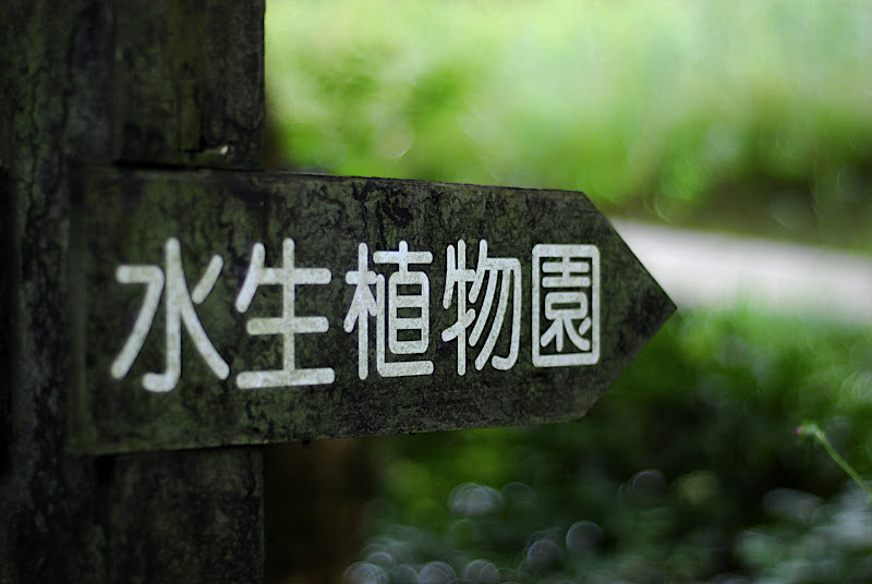 Sign points this way to Shizen Kyoikuen