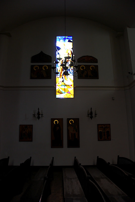The stained glass was all un-broken