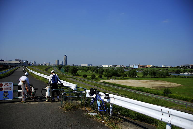 My blue Trek 7.3 FX in front of Arakawa bike path