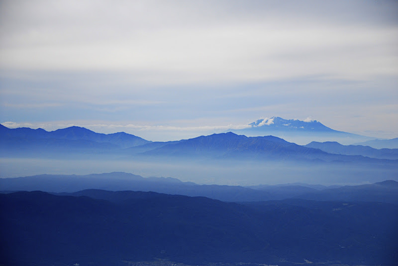 The peaks of the Japanese Alps