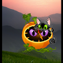 Animated Kitty Clock Widget icon