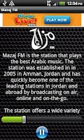 Screenshot of Mazaj FM