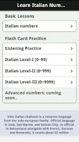 Screenshot of Learn Italian Numbers, Fast!