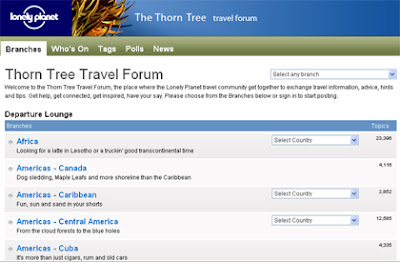 Lonely Planet's Thorn Tree Forum