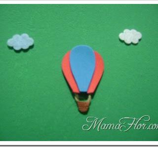 Decoración habitación para Niños: Nubes y Globos aerostáticos con Foamys