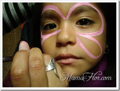 Maquillaje para niños: Antifaz de mariposa