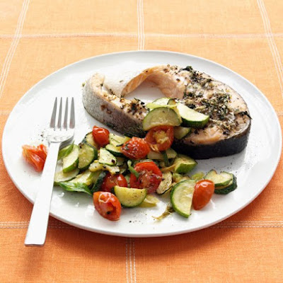 Herb-Rubbed Salmon Steak