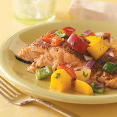 Salmon with Caribbean Salsa