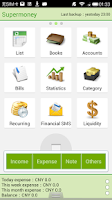 Screenshot of Supermoney-Account,Expense