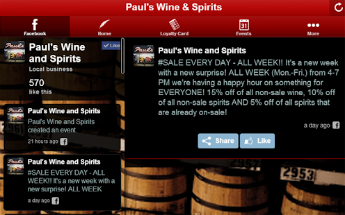Paul's Wine & Spirits - screenshot