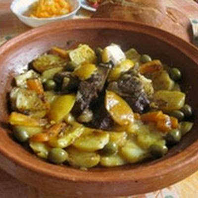 Lamb or Beef Tagine with Potatoes - Moroccan Meat and Potato Tagine