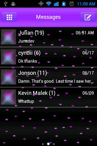 Purple Passion Go SmS Theme