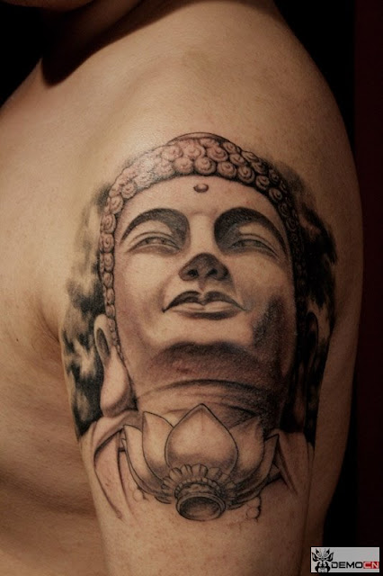 Buddha tattoo design on the arm