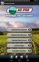 Screenshot of Drainage Tile Calculator
