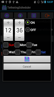 Screenshot of TetheringScheduler