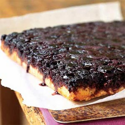 Cherry-Almond Upside-Down Cake