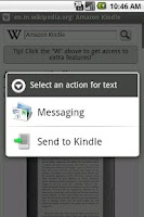 Screenshot of Send to Kindle