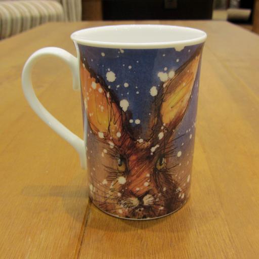 Christmas hare rabbit bunny mug gift