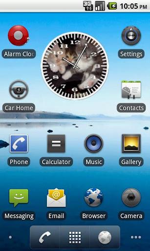 Cat 3 Kittens Analog Clock