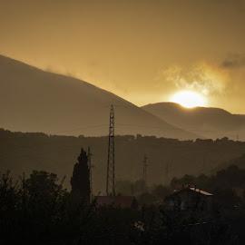 Sunset  by Marin Vrgoč - Landscapes Mountains & Hills ( hill, hills, mountains, mountain, grad, sunset, 18-105, nikon, d5100 )