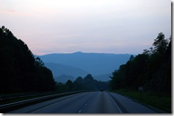 Smokey Mountains at evening