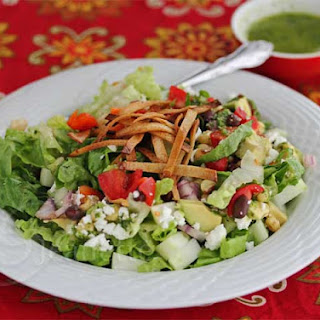 Mexican Chopped Salad with Lime Cilantro Dressing