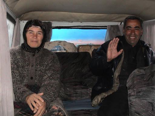 Joel Carillet - fellow passengers in an Uzbek taxi
