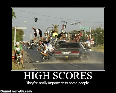 High Scores Funny Demotivational Picture