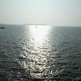 sunset by Chandan Ivan - Nature Up Close Water ( water, mumbai, ship, sunset, india )
