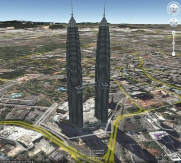 Google Earth - Petronas Twin Towers