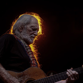 Willie by SteVan Baird - People Musicians & Entertainers ( music, concert, willie nelson, guitar, country )