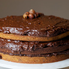 Double Nut Drenched Chocolate Cake