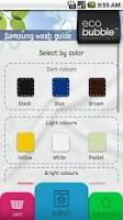 Screenshot of Samsung Wash Guide